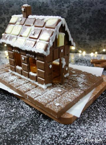 Rezept Schokohaus aus Schokoladentafeln bauen