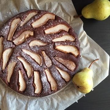 Rezept Schokokuchen mit Birnen