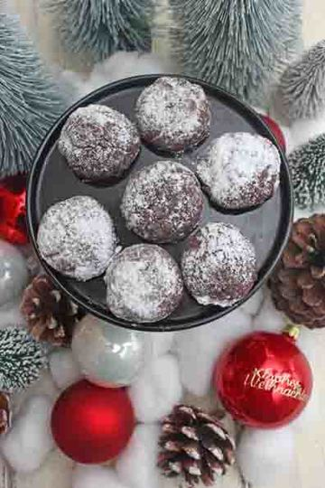 Rezept Schokokugeln oder Snowcaps Rezept – Weihnachtliche Kekse