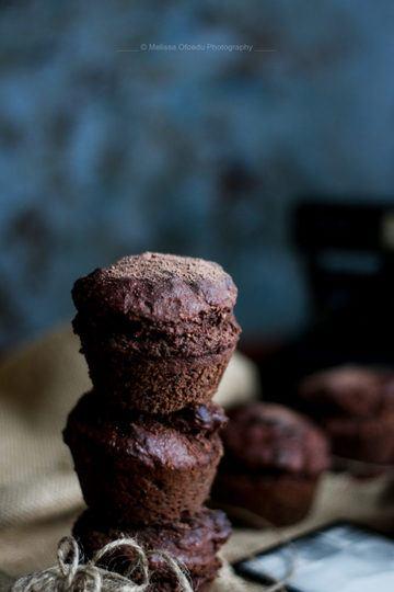 Rezept Schokoladen Bananenmuffin [Vegan + Glutenfrei]