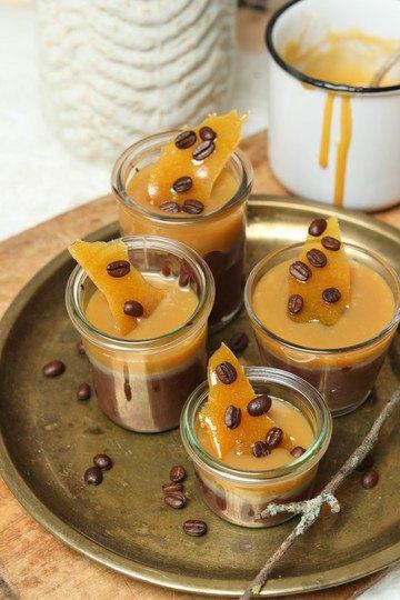 Rezept Schokoladen-Espresso-Pudding mit Karamellcreme