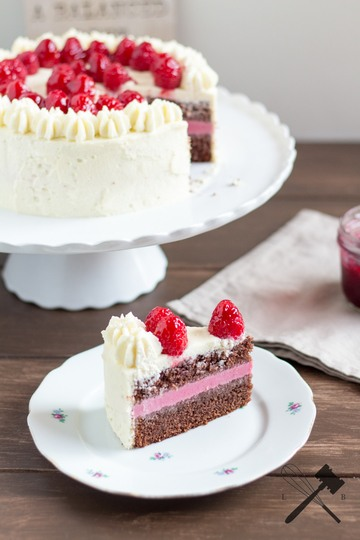 Rezept Schokoladen Himbeer Torte