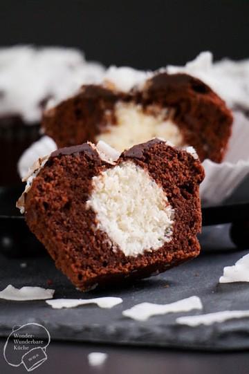 Rezept Schokoladen-Kokos-Muffins mit Überraschung