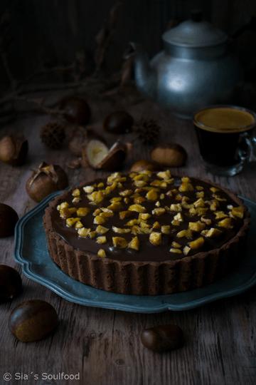 Rezept Schokoladen-Maronen-Tarte