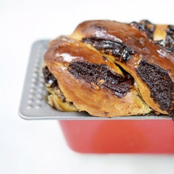 Rezept Schokoladen-Nuss-Babka [gefüllter Hefekuchen]