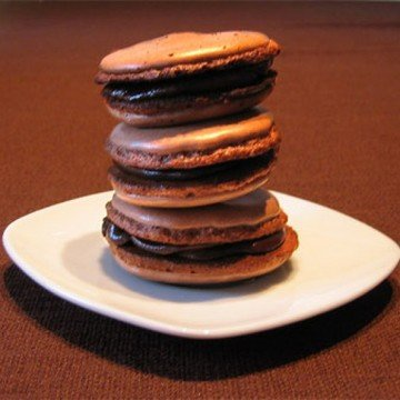 Rezept Schokoladen-Olivenöl-Macarons