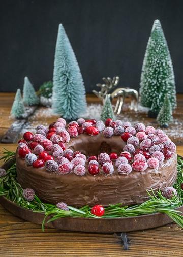 Rezept Schokoladen-Portwein-Kuchen mit Sparkling Cranberries