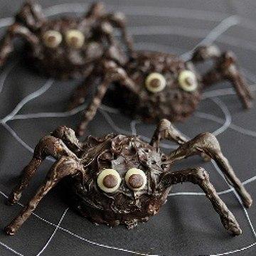 Rezept Schokoladen- Spinnen