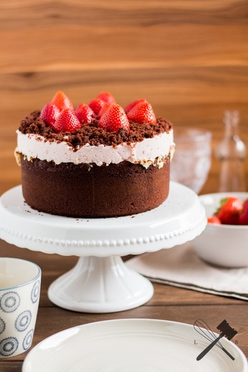Rezept Schokoladen und Erdbeeren Torte