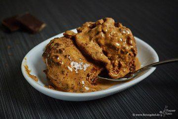 Rezept Schokoladeneis mit Browniestückchen