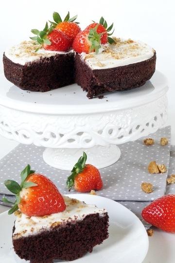 Rezept Schokoladenkuchen mit Frischkäsecreme