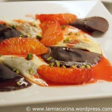 Rezept Schokoladenravioli mit Orangensauce