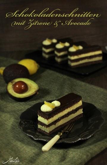 Rezept Schokoladenschnitten mit Zitrone & Avocado