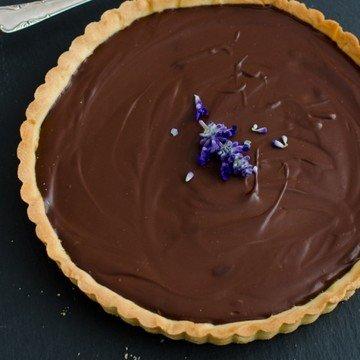 Rezept Schokoladentarte mit Crème fraîche
