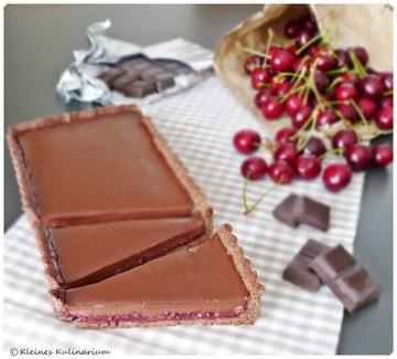 Rezept Schokoladentarte mit Kirschfüllung