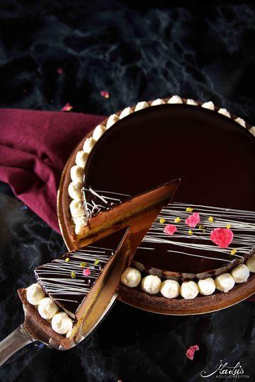Rezept Schokoladentarte mit Pistazie & Kokos