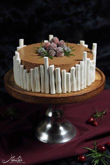 Rezept Schokoladentorte mit Cranberries, Orange & Rosmarin