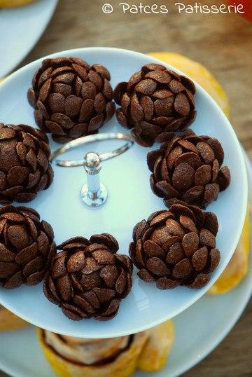 Rezept Schokoladenzapfen mit Crispies