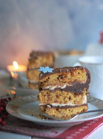 Rezept Schokoladige Erdnussbutter-Karamell-Torte