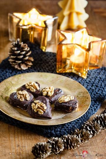Rezept Schokoladige Walnussherzen mit feiner Füllung