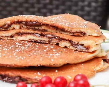 Rezept Schokotraum: Gefüllte Pancakes mit Nutella