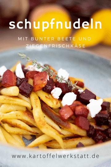 Rezept SCHUPFNUDELN MIT BUNTER BEETE UND ZIEGENFRISCHKÄSE