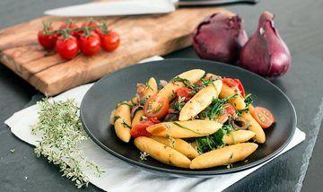 Rezept Schupfnudeln mit frischem Gemüse