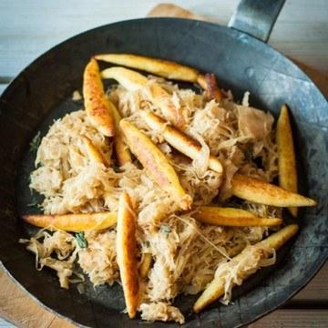 Rezept Schupfnudeln mit Sauerkraut