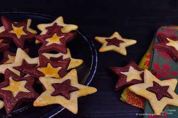 Rezept Schwarz-Weiß Sterne – der Weihnachtsklassiker