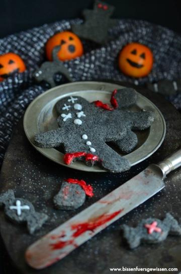 Rezept Schwarze Sesam Kekse für Halloween