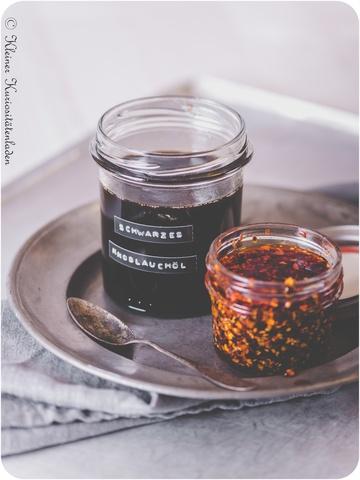 Rezept Schwarzes Knoblauchöl & Sichuan-Chili-Öl