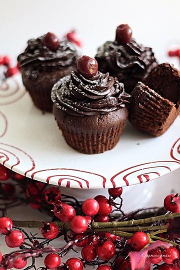 Rezept Schwarzwälder-Kirsch-Cupcakes