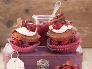 Rezept Schwarzwälder-Kirsch-Muffins