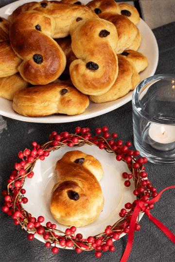Rezept Schwedische Lussekatter – Hefegebäck mit Safran