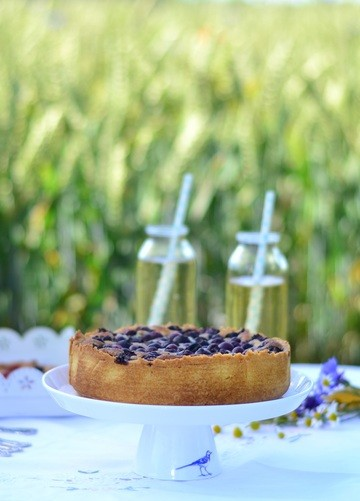 Rezept Schwedische Mazarin Blaubeer Tarte