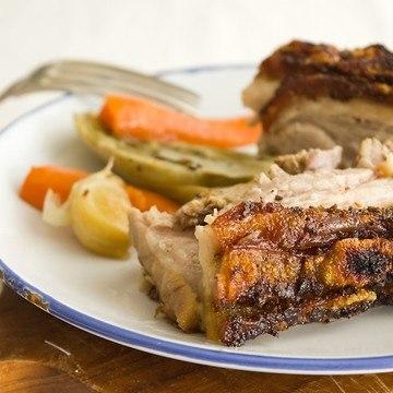 Rezept Schweinebauch mit Fenchel