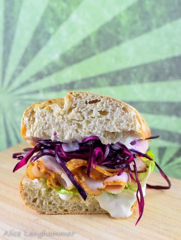 Rezept Schweinebraten-Sandwich