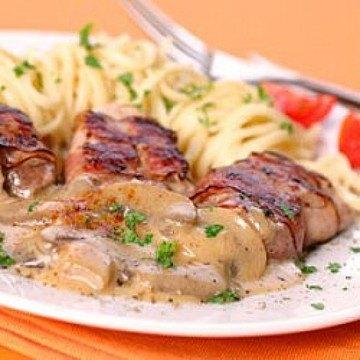 Rezept Schweinefilet mit Champignon-Rahm-Sauce