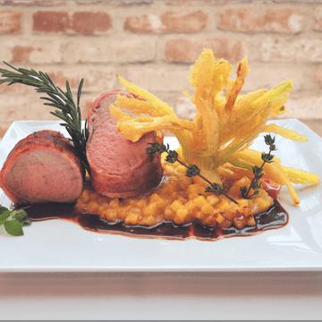Rezept Schweinefilet mit Kartoffelrisotto und Frühlingslauch