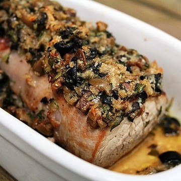 Rezept Schweinefilet mit Oliven-Kräuter-Kruste