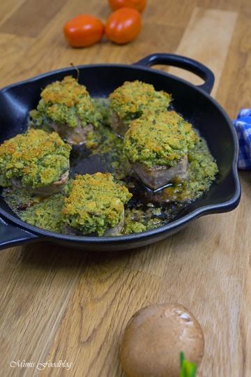 Rezept Schweinemedaillons mit Kräuterkruste aus dem Backofen