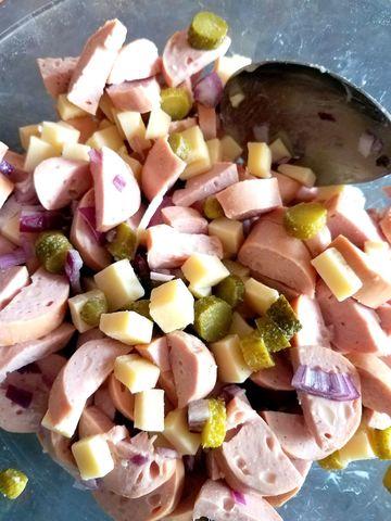 Rezept Schweizer Wurst-Kaese Salat