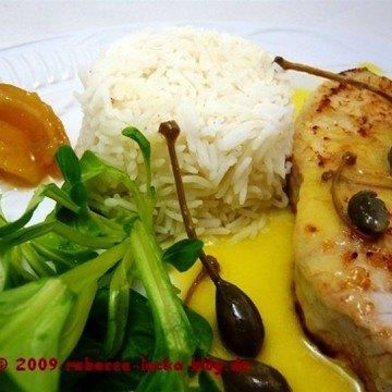 Rezept Schwertfischsteak mit Kapern-Zitronensauce
