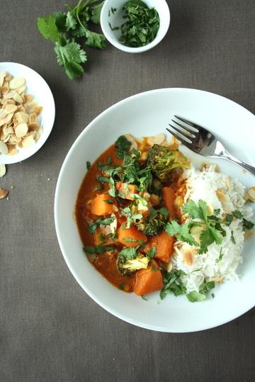 Rezept Selbstgemachte Currypaste und Gemüsecurry