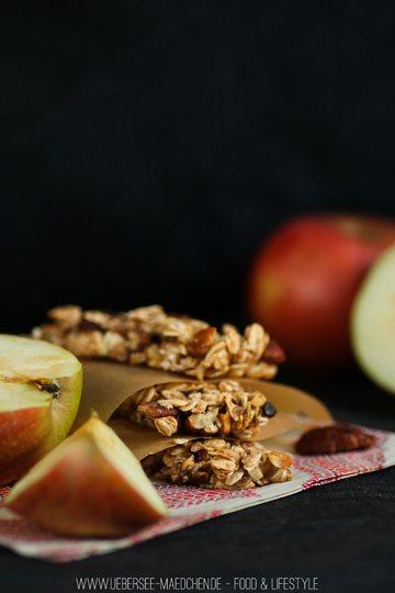 Rezept Selbstgemachte Müsliriegel mit Apfel-Zimt