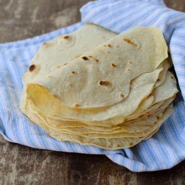 Rezept selbstgemachte Weizentortillas