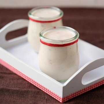 Rezept Selbstgemachter Erdbeerjoghurt