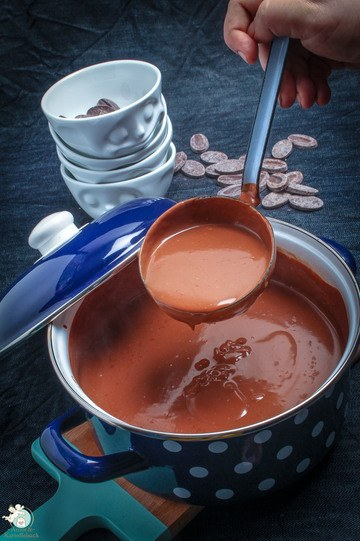 Rezept selbstgemachter, schneller Schokopudding