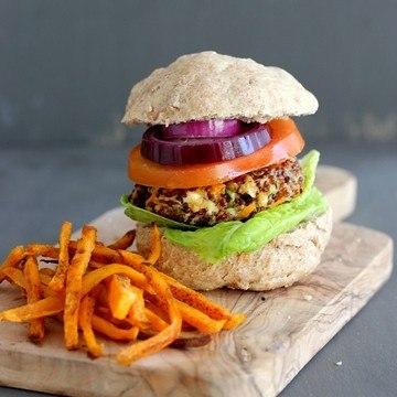 Rezept Selbstgemachter Veggie Burger