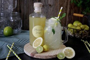 Rezept Selbstgemachter Zitronensirup für Limonade & heiße Zitrone